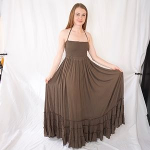 Free People Extratropical Maxi Dress NWT Green XS